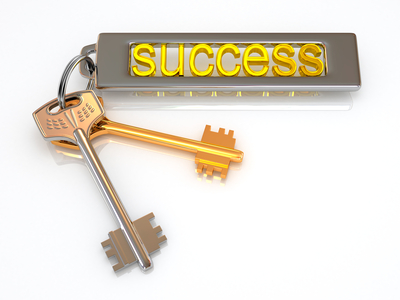 Keys to success. 3d