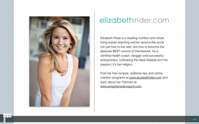 Entrepreneur Spotlight – Elizabeth Rider